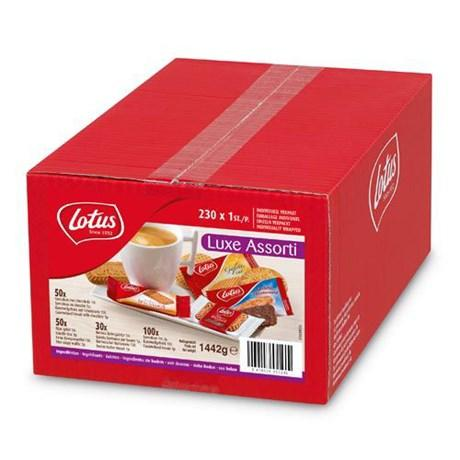 Assortiment luce 230 pieces lotus speculoos biscuits individuels