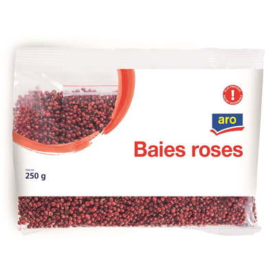 Baies roses 250 g aro