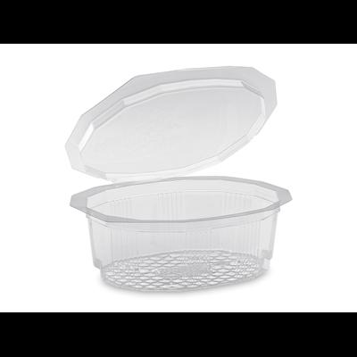 Barquette a salade avec couvercle multipack pet recyclable cristal 250 cc x 100 alphaform 1