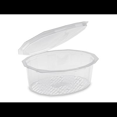 Barquette a salade avec couvercle multipack pet recyclable cristal 750 cc x 50 alphaform