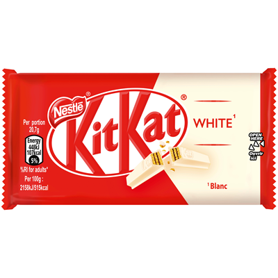 Barre chocolatee kit kat blanc 41 5 g carton de 24