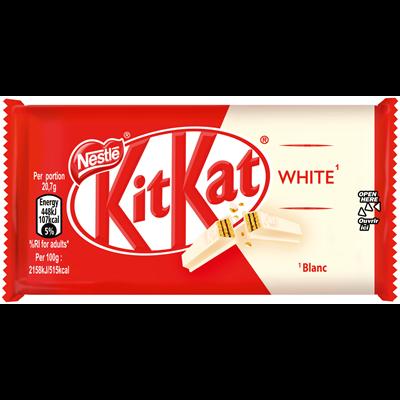 Barre chocolatee kit kat blanc 41 5 g carton de 25