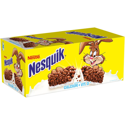 Barres chocolatees nesquik 24 pieces nestle