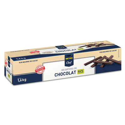 Batons de chocolat longs 44 cacao 300 pieces 1 6 kg