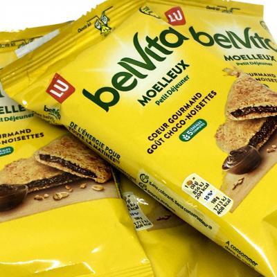 Biscuit moelleux coeur gourmand choco noisette paquet 50 g belvita le lot de 10