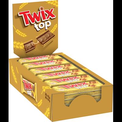 Biscuit nappe de caramel et de chocolat au lait 21 g twix top