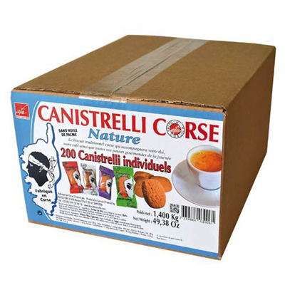 Biscuit nature individuel x 200 canistrelli