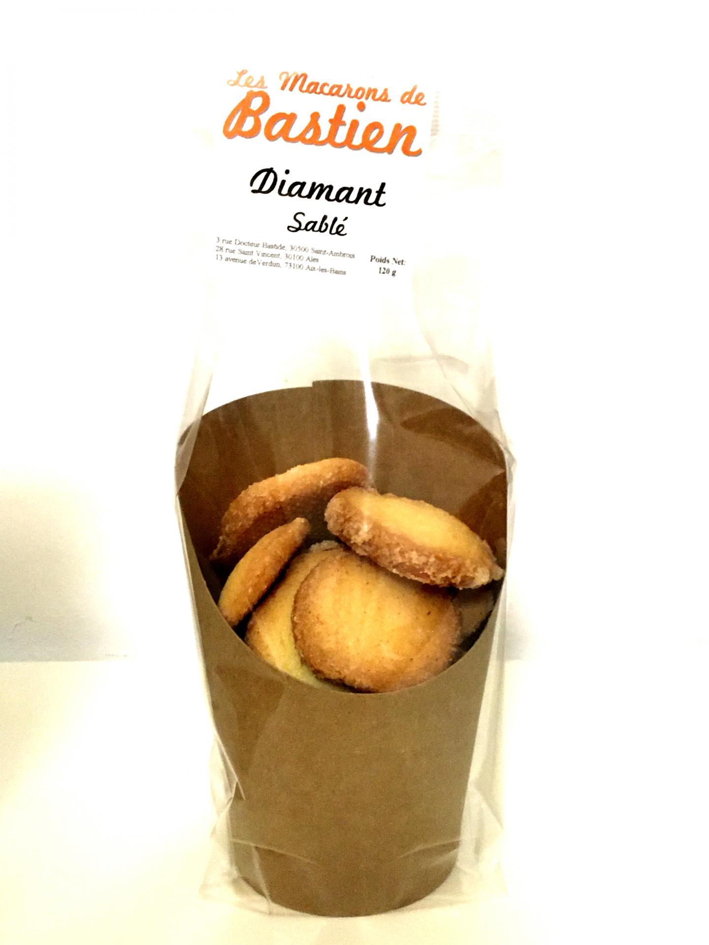 Biscuits diamant sable les macarons de bastien 120g