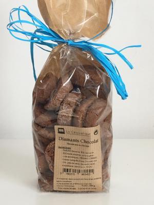 Biscuits diamants au chocolat 200g esat la cezarenque en cevennes concoules