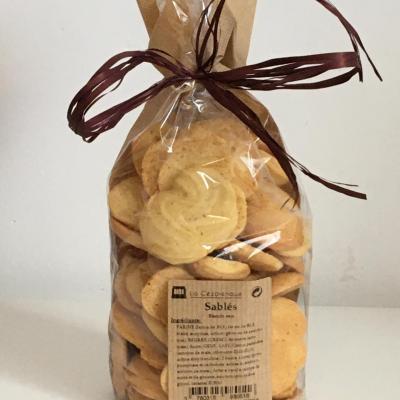 Biscuits sables a la vanille 250g esat la cezarenque en cevennes concoules