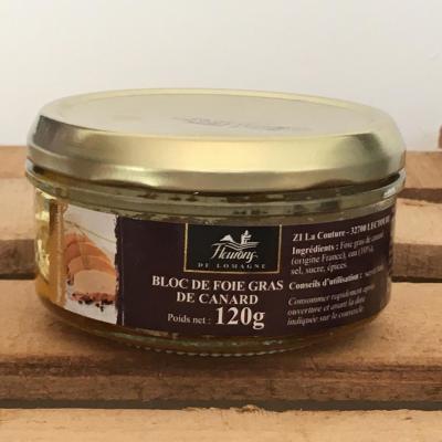 Bloc de foie gras de canard 120g boc