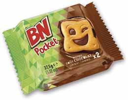 Bn pocket chocolat 37 5 g chocolat le lot de 20