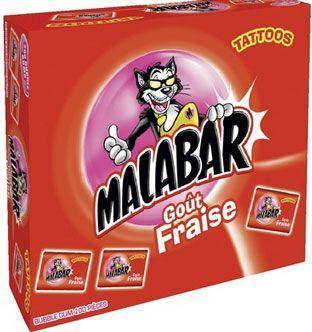 Boite malabar fraise 200 pieces pour professionnels