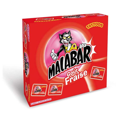 Boite malabar fraise 200 pieces