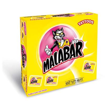 Boite malabar tutti frutti 200 pieces malabar
