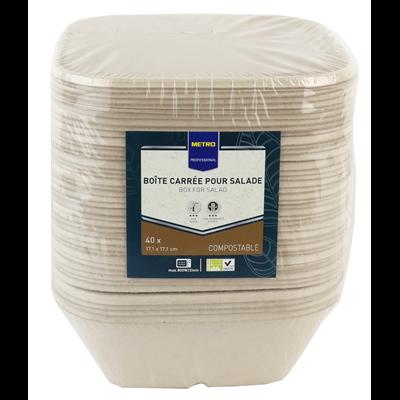 Bol jetable carre biodegradable blanc 900 ml x 40