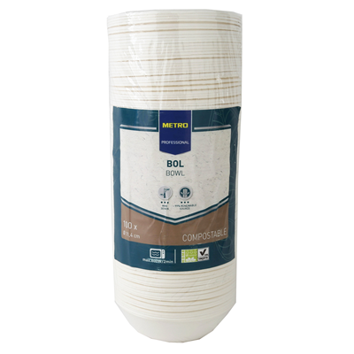Bol jetable rond biodegradable blanc 200 ml x 100