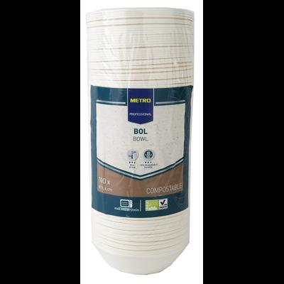 Bol jetable rond biodegradable blanc 200 ml x 100