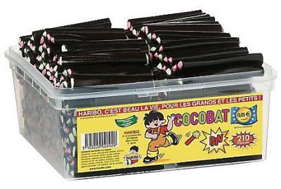 Bonbons cocobat 210 pieces haribo fourniture ccas comites d entreprise et professionnels