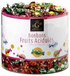 Bonbons d accueil aux fruits gilbert 1 4 kg pour bureau
