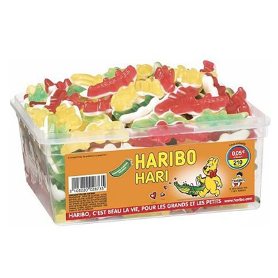 Bonbons haricroco 210 pieces haribo