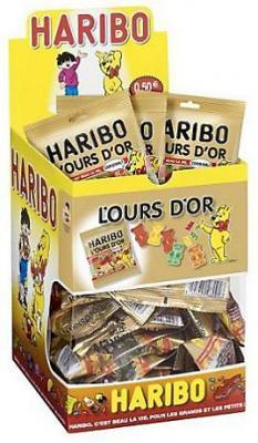 Bonbons l ours or 30 x 40 g fourniture ccas comites d entreprise et professionnels
