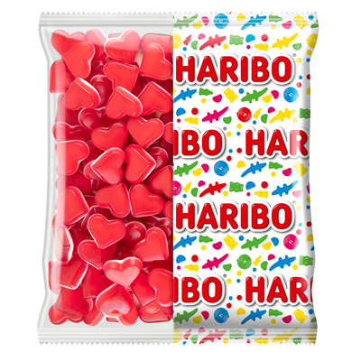 Bonbons red love sachet 1 kg haribo