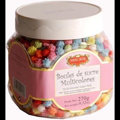 Boules de sucre multicolores eric bur 270 g
