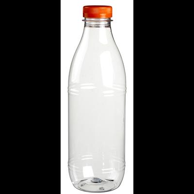 Bouteille avec bouchon plastique transparent 1l x 6 solia