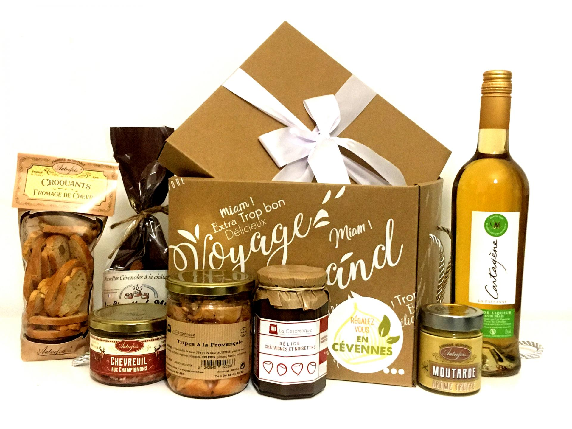 Box des cevennes boite cadeau produits du terroir saveurs