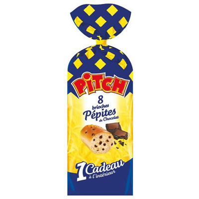 Brioche pepites de chocolat pitch 8 pieces 300 g pasquier