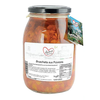 Bruschetta aux poivrons bocal 1062 ml