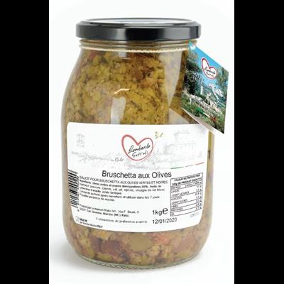 Bruschetta olives bocal 1062 ml