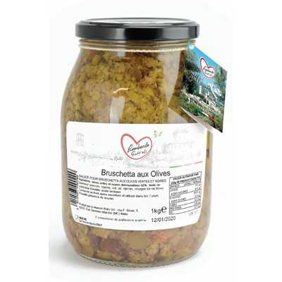 Bruschetta olives bocal 1062 ml