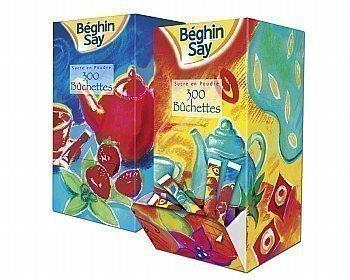 Buchettes de sucre en poudre coloris assortis boite distributrice de 300