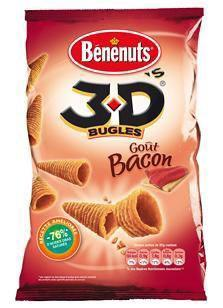 Bugles 3d s bacon 6 x 85 g pour bureau