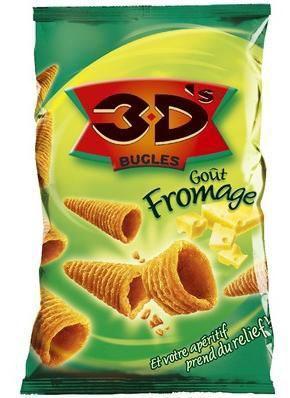 Bugles 3d s fromage 6 x 85 g pour bureau
