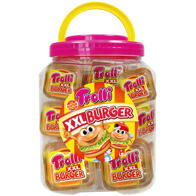 Burger xxl 50 g tubo 20 pieces trolli