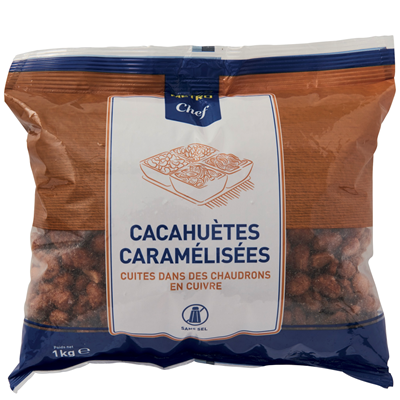 Cacahuetes caramelisees 1 kg metro chef