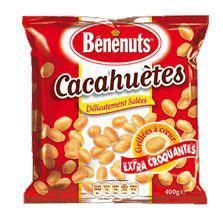 Cacahuetes grillees salees 6 x 200 g benenuts pour bureau