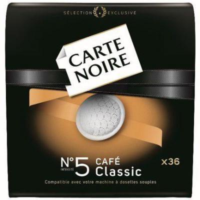 Cafe classic 36 dosettes 250 g carte noire pour professionnels
