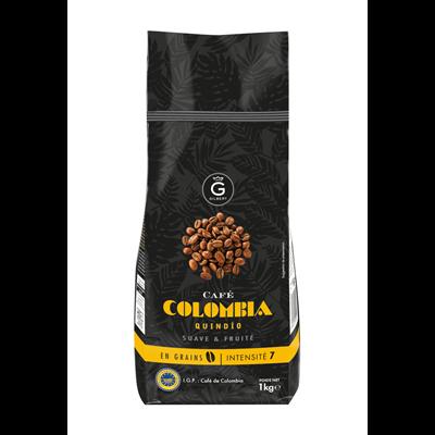 Cafe colombia en grains intensite 7 1 kg gilbert