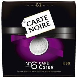 Cafe corse 36 dosettes 250 g carte noire pour professionnels
