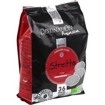 Cafe en dosettes stretto bio x36 compatibles senseo