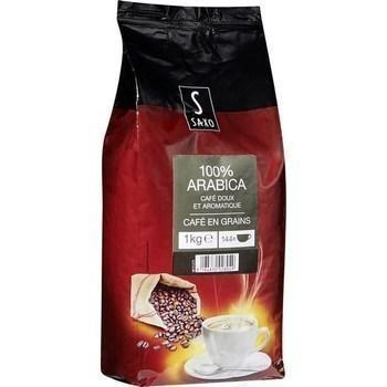 Cafe en grains 100 arabica 1 kg