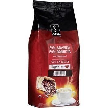 Cafe en grains 50 arabica 50 robusta 1 kg