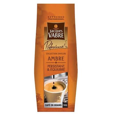 Cafe en grains ambre persitant et equilibre 1 kg jacques vabre