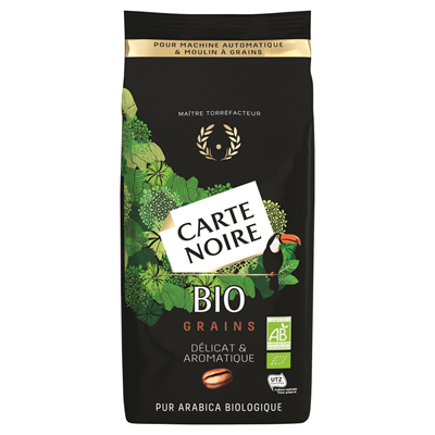 Cafe en grains bio 100 arabica sachet 1 kg carte noire
