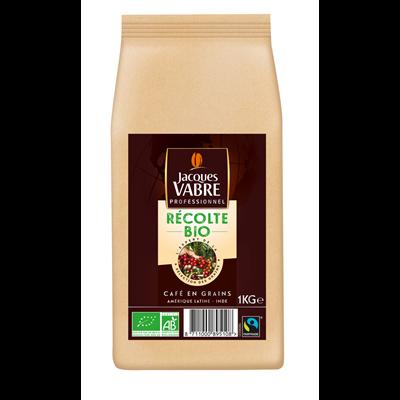 Cafe en grains recolte bio 1 kg jacques vabre