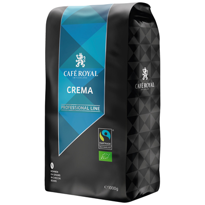 Cafe en grains royal crema bio 1 kg professional line